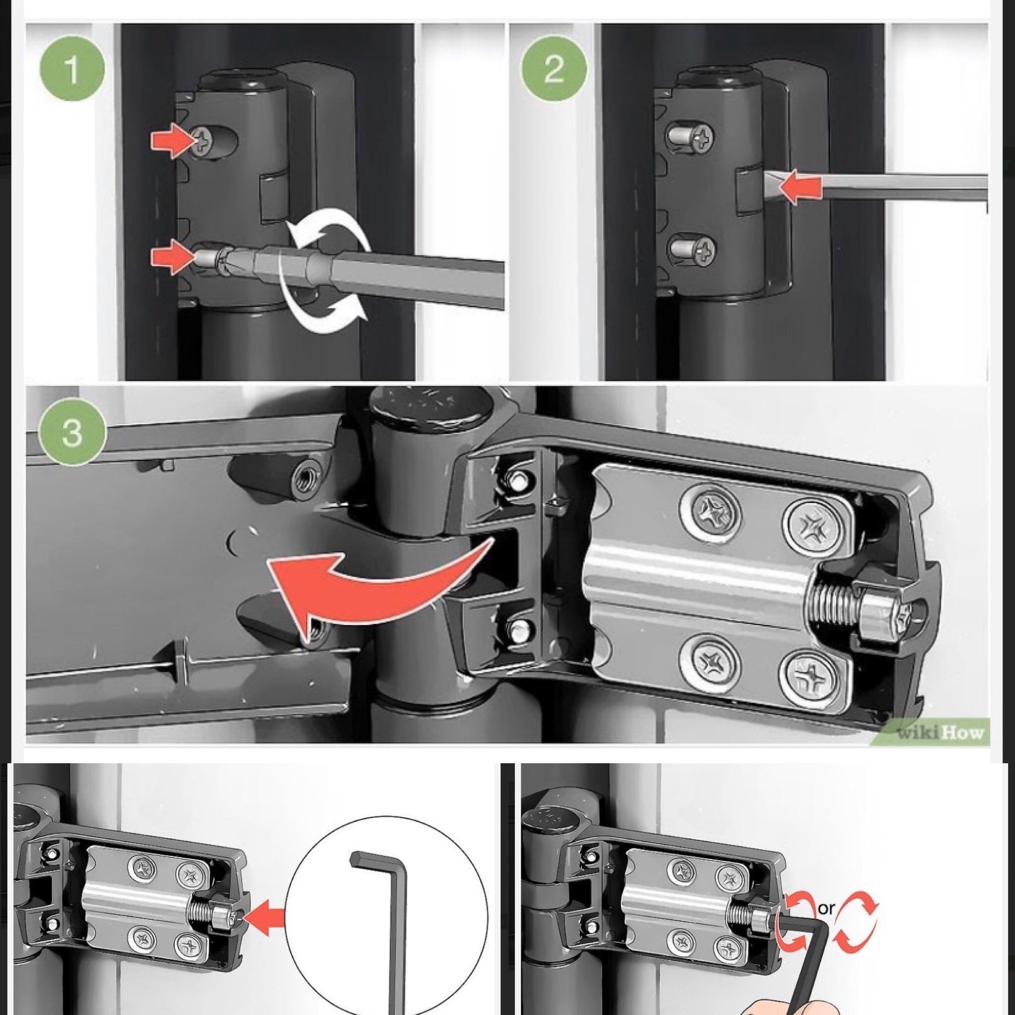 How to adjust a Upvc hinge - Upvc door alignment