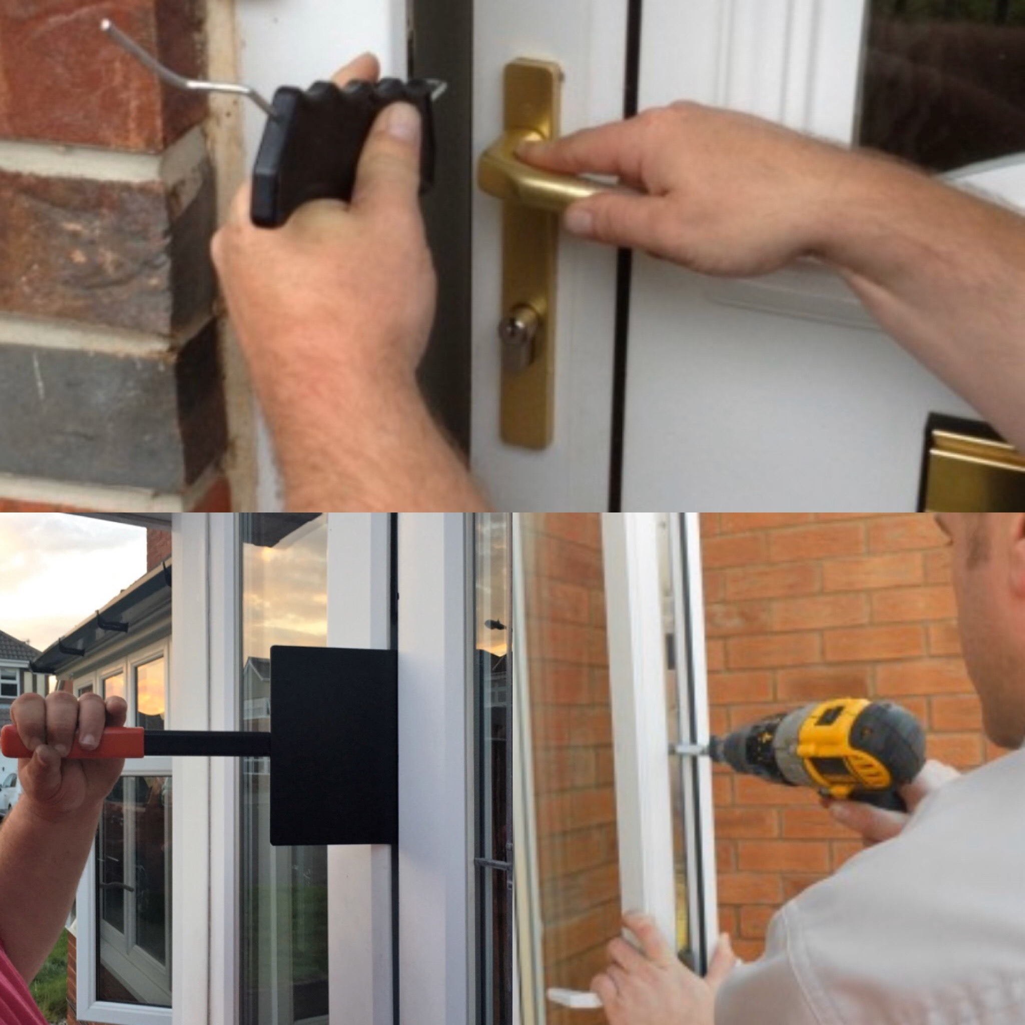 How to open a Upvc door with a broken multipoint lock
